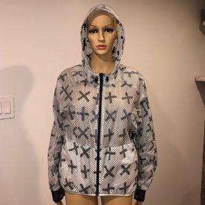 Adidas X  hoodie Windbreaker Jacket size small